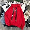 Худи на флисе.  • Цвета: чёрный, красный, терракот. (0701), фото 6