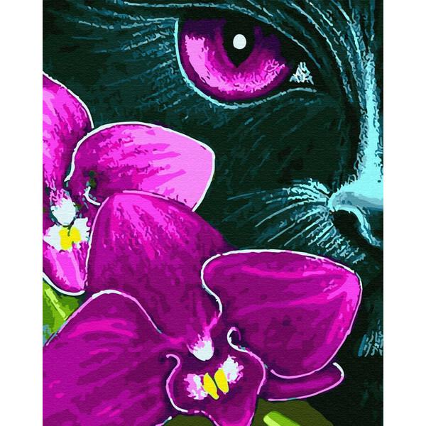 Фиалковый кот (GX31620). Картины по номерам 40×50 см.