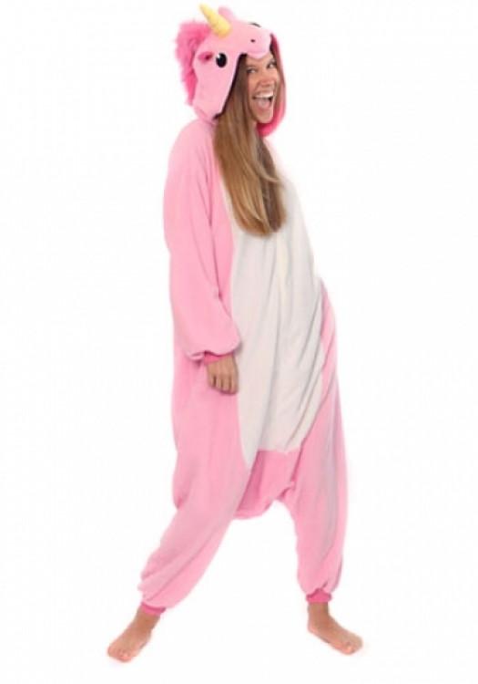 Пижама кигуруми Единорог (розовый) L