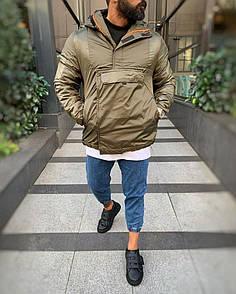 Чоловіча утеплена Анорак-куртка, зима-осінь, Хакі