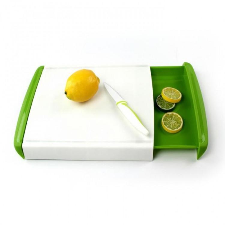 Кухонная доска для нарезки с двумя контейнерами Big Green