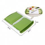 Кухонная доска для нарезки с двумя контейнерами Big Green, фото 2