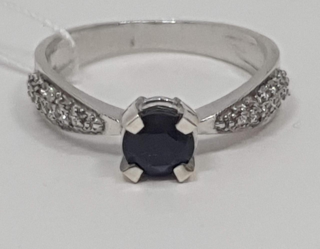 Серебряное кольцо Анни с сапфиром. Артикул 1685/9Р-SPH 16