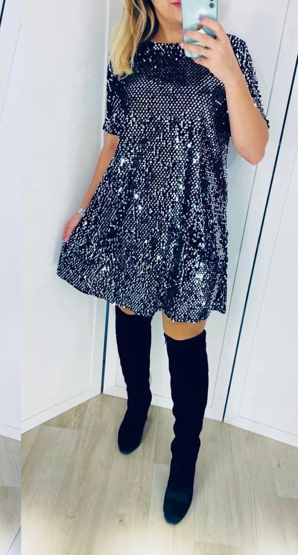Женское платье пайетка вечернее, Вечернее женское блестящее платье.