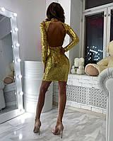Элегантное платье с открытой спинкой, Шикарное платье в пайетку,, фото 5