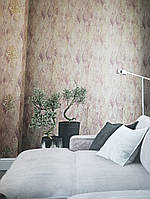 Вінілові шпалери на флізелін GranDeco Villa danelli VD1002 метрові однотонні пісочний під тканина, фото 1
