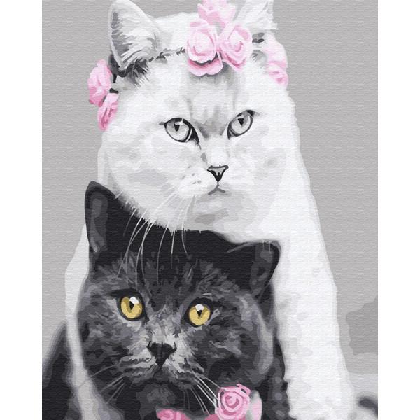 Кошачья свадьба (GX26128). Картины по номерам 40×50 см.