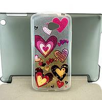 Чехол для LG K5 X220 накладка бампер противоударный силиконовый Shine с принтом Pictures сердечка 11