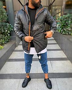 Чоловіча утеплена Анорак-куртка, зима-осінь Black