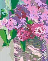 Яркая картина раскраска по номерам Rosa Нежные гиацинты 35х45 см N00013294 живопись рисование в цифрах на