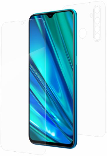 Гидрогелевая защитная пленка на Realme 5 Pro на весь экран прозрачная