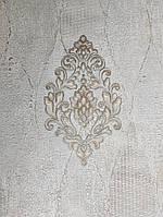 Вінілові шпалери на флізелін GranDeco Villa danelli VD1002 метрові однотонні пісочний під тканина
