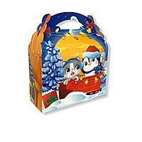 Новорічна упаковка на цукерки Паравозик сумка