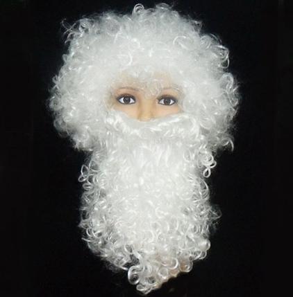 Комплект Деда Мороза Парик с бородой ABC ЭЛИТ, фото 2
