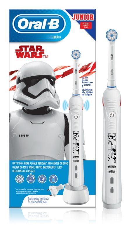 Електрична зубна щітка дитяча Oral B Junior 6+ Star Wars