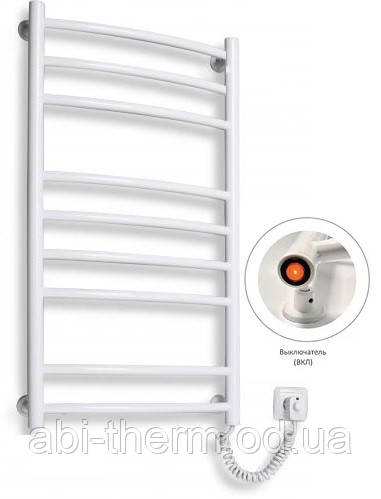 Полотенцесушитель Сходи-9 білий 880x480 (праве підключення)