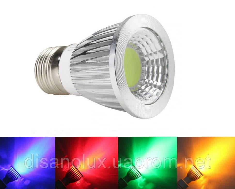 Світлодіодна лампа MR16 GU 5.3 LED 3W RGBW 220V +пульт