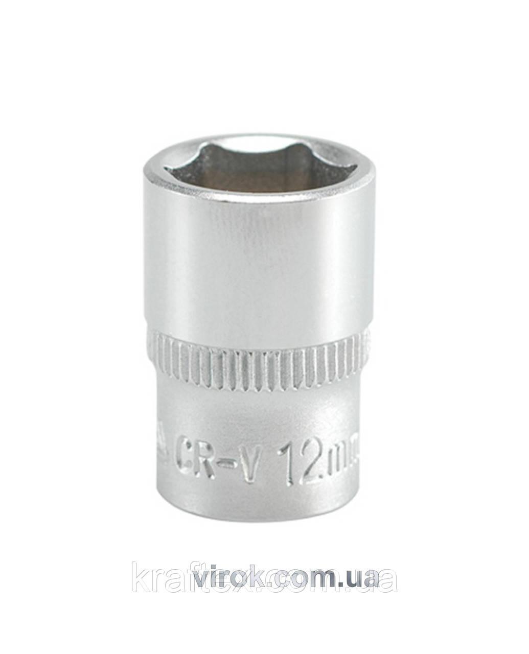 """Головка торцева шестигранна YATO 1/4"""" М12 х 25 мм (YT-1411)"""