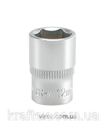 """Головка торцева шестигранна YATO 1/4"""" М12 х 25 мм (YT-1411), фото 2"""