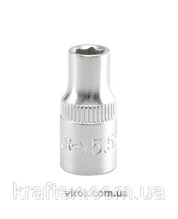 """Головка торцева шестигранна YATO 1/4"""" М5.5 х 25 мм (YT-1404), фото 2"""