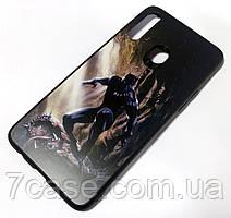 Чехол для Samsung Galaxy A20s A207F PET matte print Черная пантера