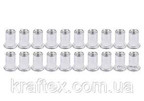 Нітогайка алюмінієва YATO М6 х 14 мм 20 шт (YT-36454), фото 2