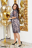 Нарядное женское платье большого размера  Размеры: 50,52,54,56, фото 5