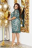 Нарядное женское платье большого размера  Размеры: 50,52,54,56, фото 2