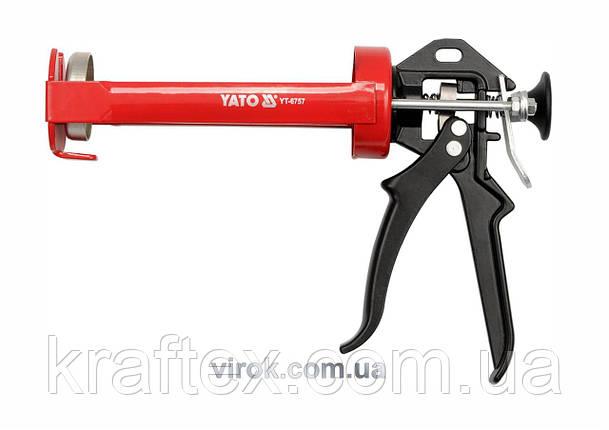 Пістолет для герметика YATO 200 мм (YT-6757), фото 2