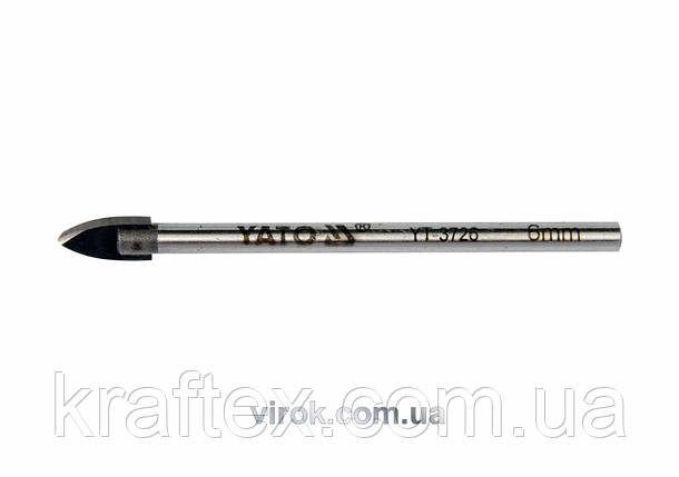 Свердло по склу і плитці YATO 10 мм (YT-3728), фото 2