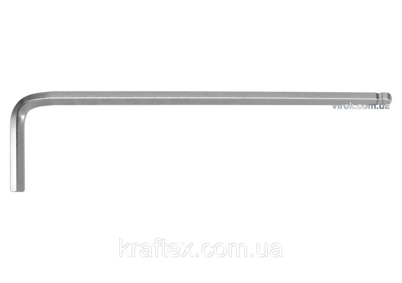 Ключ шестигранний Г-подібний з кулькою YATO HEX 1.5 x 14 х 78 мм (YT-05450)
