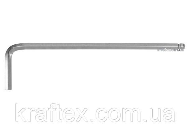 Ключ шестигранний Г-подібний з кулькою YATO HEX 1.5 x 14 х 78 мм (YT-05450), фото 2