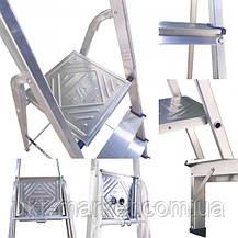 Драбина стрем'янка алюмінієва одностороння на 6 ступенів, фото 3