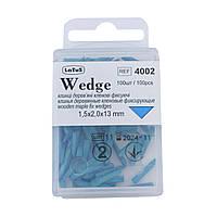 Wedge, 100 шт в упаковке, клинья деревяные фиксирующие, Latus 1,5 х 2,0 х 13 мм