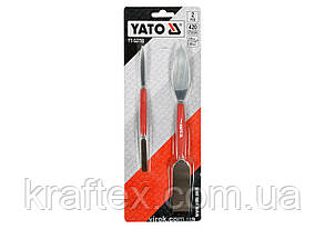 Шпателі штукатурні двосторонні YATO 8 х 192 мм і 26 х 254 мм 2 шт (YT-52780), фото 2