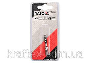 """Свердло-мітчик YATO М6 х 1 x 44/8 мм HSS М2 HEX-1/4"""" (YT-44843), фото 2"""