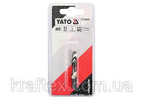 """Свердло-мітчик YATO М8 х 1.25 x 51/11 мм HSS М2 HEX-1/4"""" (YT-44845), фото 2"""