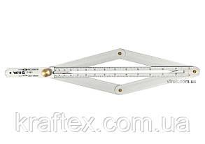 Кутомір алюмінієвий на шарнірах YATO зовнішній/внутрішній діапазони- 10-170°/5-85° 380 мм (YT-70853), фото 2