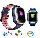 Умные детские часы Smart baby watch A80 Blue 4G видеочат GPS WiFi ip67, фото 4