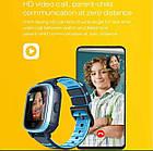 Умные детские часы Smart baby watch A80 Blue 4G видеочат GPS WiFi ip67, фото 3