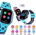 Умные детские часы Smart baby watch Y95 Pink 4G видеочат GPS WiFi, фото 6