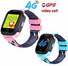 Умные детские часы Smart baby watch Y95 Pink 4G видеочат GPS WiFi, фото 4