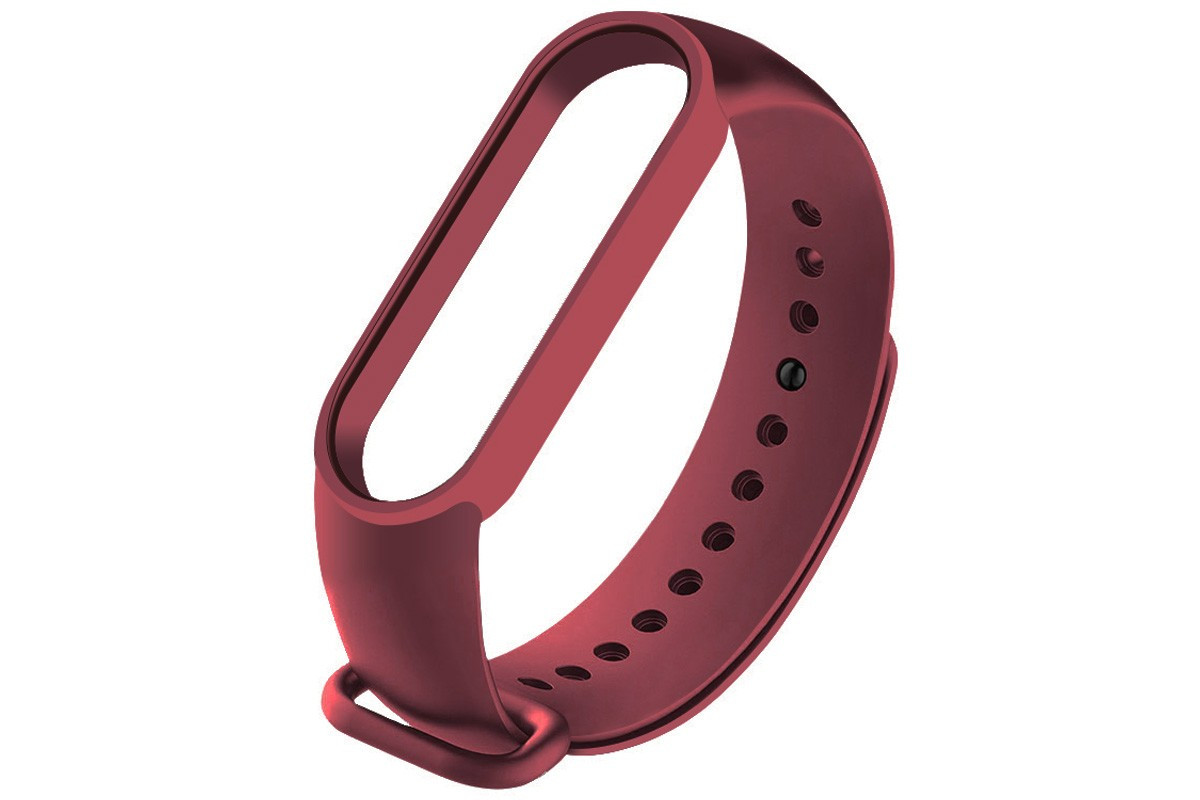 Ремешок для фитнес - трекера Xiaomi Mi Band 5 Бордовый