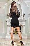 Міні-плаття брендове Seventeen верх із сітки з люрексом (3 кольори, р. S-XL), фото 4