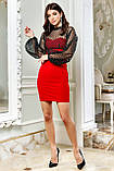 Міні-плаття брендове Seventeen верх із сітки з люрексом (3 кольори, р. S-XL), фото 5