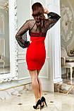 Міні-плаття брендове Seventeen верх із сітки з люрексом (3 кольори, р. S-XL), фото 7