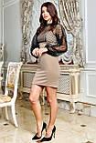 Міні-плаття брендове Seventeen верх із сітки з люрексом (3 кольори, р. S-XL), фото 9