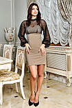 Міні-плаття брендове Seventeen верх із сітки з люрексом (3 кольори, р. S-XL), фото 8