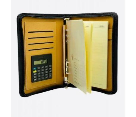 Блокнот органайзер на кольцах с застежкой молния с калькулятором формат В5 172*205мм линия. 92л № 920836-1