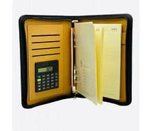Блокнот органайзер на кільцях з застібкою блискавка з калькулятором лінія 92л формат В5 142 х 208мм № 920836-1